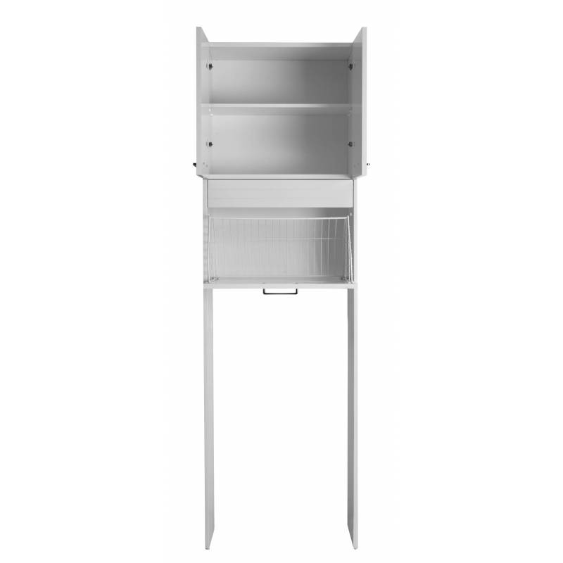 Mobile porta lavatrice rialzato con cesto portabiancheria - Mobili per lavatrice ...