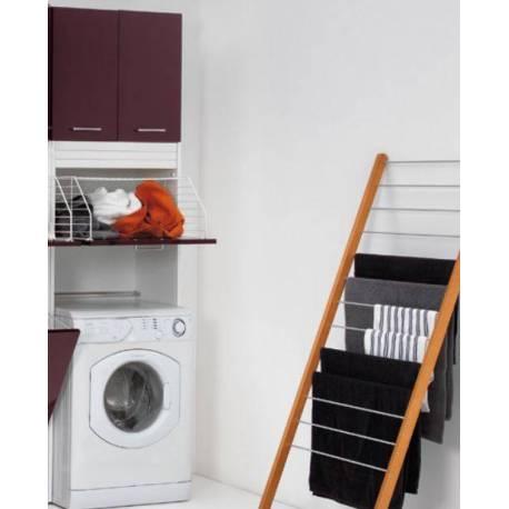 Mobile porta lavatrice rialzato con cesto portabiancheria e due comode ante - Mobile porta lavatrice ...