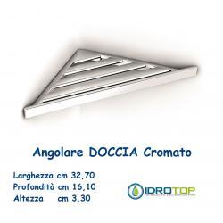 Portasapone per Doccia in ABS Angolare ad Incollo a lamelle Cromate Ibb BX83