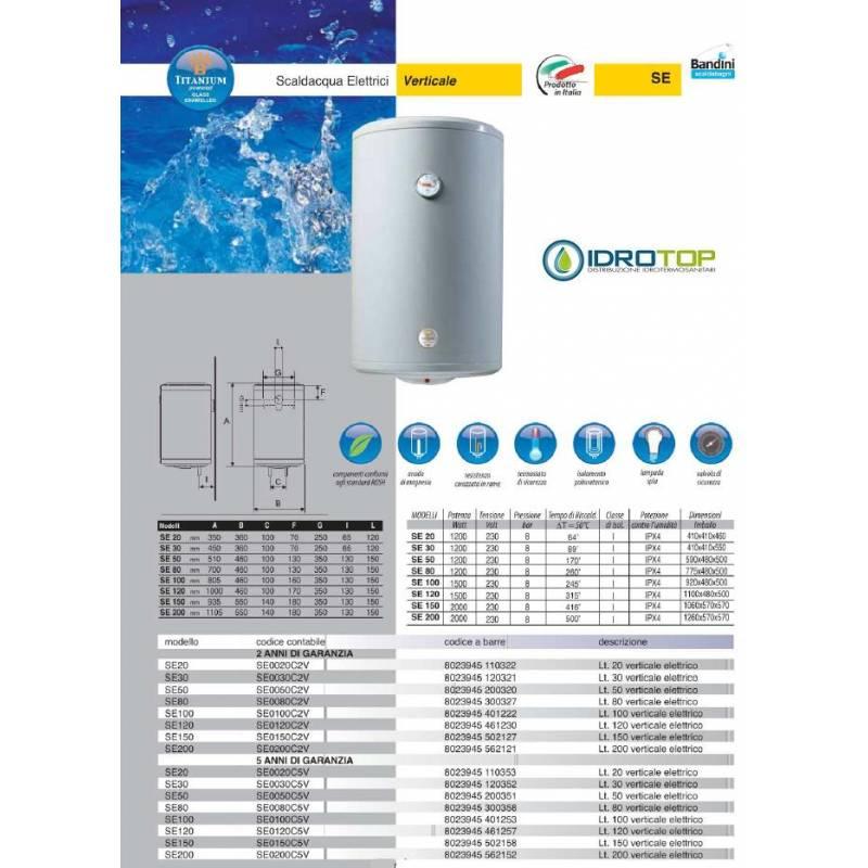 Scaldabagno elettrico 80 litri prezzi atlantic ego boiler for Scaldacqua a gas bricoman