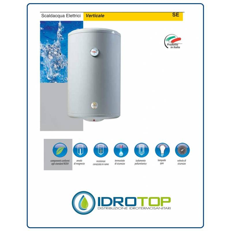 Se0080c2v scaldabagno elettrico verticale litri 80 - Scaldabagno elettrico 80 litri prezzo ...