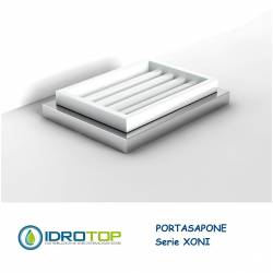 Portasapone XONI in Ceramica particolari Cromo Ibb XO21