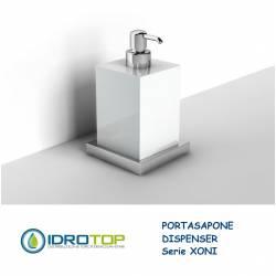 Portasapone con Dispenser XONI in Ceramica particolari Cromo Ibb XO21D