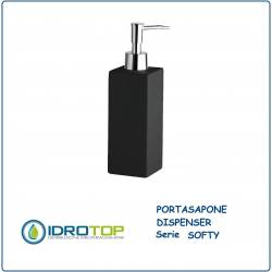 Portasapone con Dispenser SOFTY in Ceramica con Vernice Softy-Touch Grigia Ibb SO21DQ