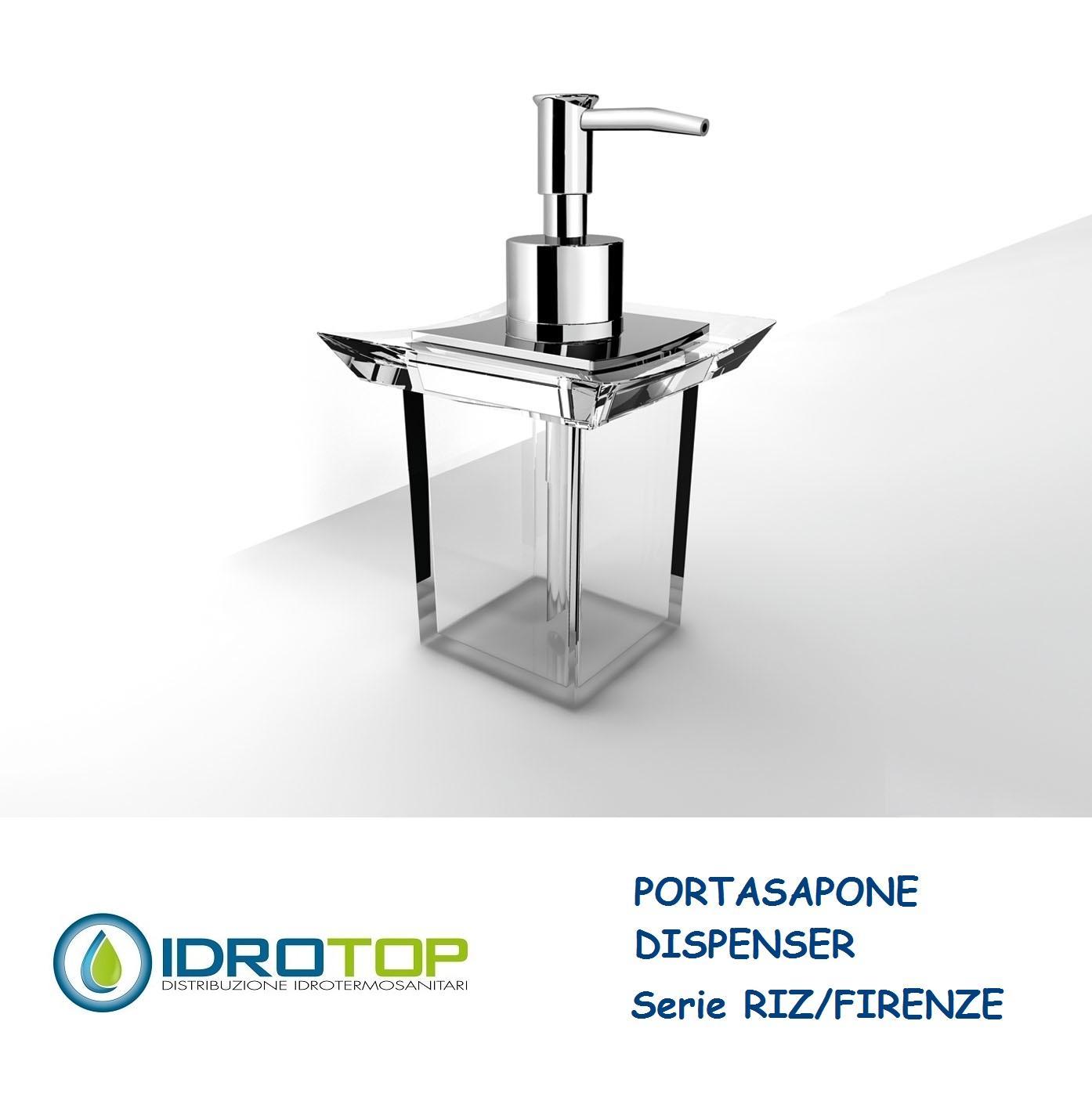 Portasapone RIZ//FIRENZE in Acrilico Trasparente Ibb FI21A