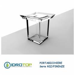 Bicchiere da Appoggio RIZ/FIRENZE in Acrilico Trasparente Ibb FI22A