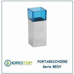 Portabicchiere BEDY Acciaio Inox/Acrilico Blu Ibb D21