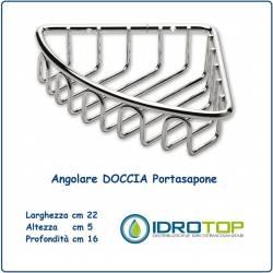 Portasapone per Doccia Angolare a Griglia Cromata Ibb AV23