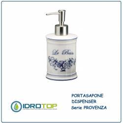 Portasapone a Dispenser PROVENZA in Ceramica Bianca ibb PR21D