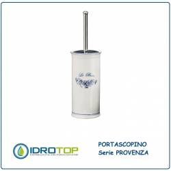 Portascopino PROVENZA in Ceramica Bianca ibb PR17