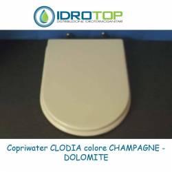 Copriwater Dolomite  CLODIA CHAMPAGNE  Cerniera Cromo-Sedile-Asse Wc
