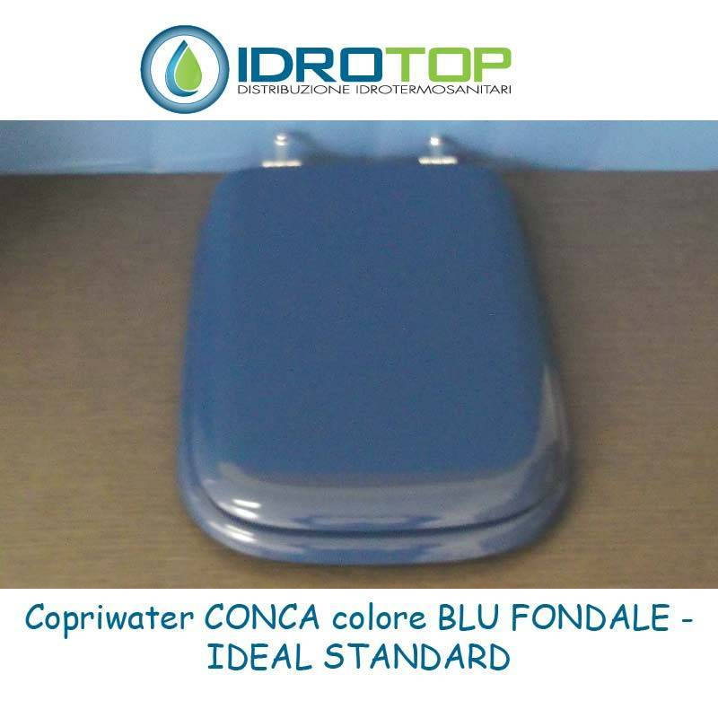 Copriwater ideal standard conca blu fondale for Conca ideal standard