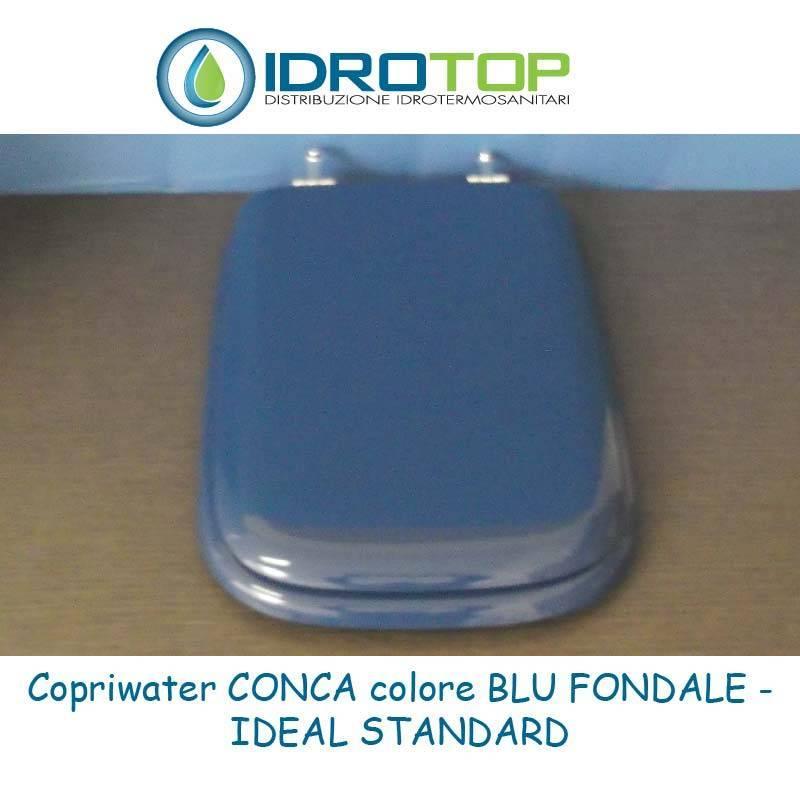 Copriwater ideal standard conca blu fondale for Ideal standard conca