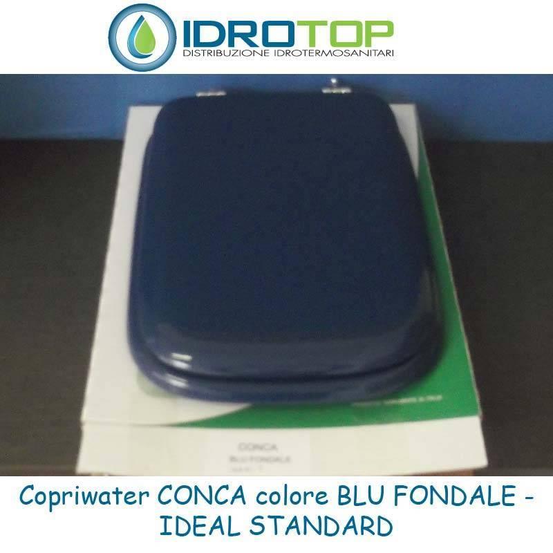 Sedile Water Ideal Standard Conca.Copriwater Ideal Standard Conca Blu Fondale