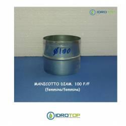 Manicotto di Giunzione diam.100F/F-per Unire le Tubazioni Aria Calda e Fredda