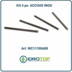 ASTINE INOX (4 pz.) per portamix copriwater bidet x articolo 120-320  Idrotop