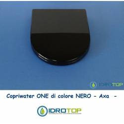 Copriwater AXA ONE Colore Nero Cerniera Rallentata Soft Close Cromo