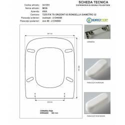 Copriwater MOS AXA Bianco Cerniera Rallentata Soft Close Cromo