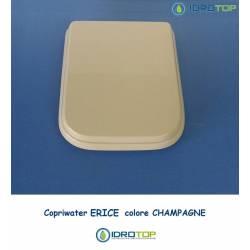 Copriwater Cesame ERICE CHAMPAGNE Cerniera Rallentata Soft Close Cromo-Sedile-Asse Wc