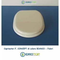 Copriwater F. CONCEPT Bianco Cerniera Rallentata Soft Close Cromo-Falerii