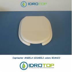 Copriwater Hidra ANGELA DISABILI  BIANCO Cerniera Rallentata Soft Close Cromo-Sedile-Asse Wc