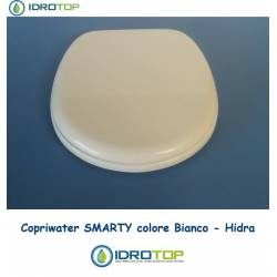 Copriwater Hidra SMARTY BIANCO Cerniera Rallentata Soft Close Cromo-Sedile-Asse Wc