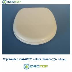 Copriwater Hidra SMARTY BIANCO IS Cerniera Rallentata Soft Close Cromo-Sedile-Asse Wc