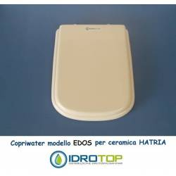 Copriwater Hatria  EDOS BIANCO  Cerniera Rallentata Soft Close Cromo-Sedile-Asse Wc