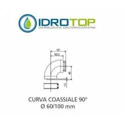 CURVA coassiale 90°