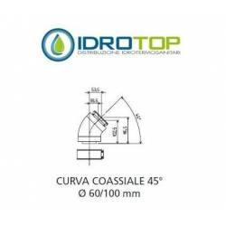 CURVA coassiale 45°