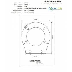 Copriwater Alfa X ONE BIANCO Cerniera Cromo-Sedile-Asse Wc