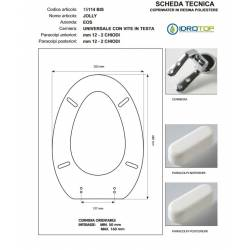Copriwater JOLLY Eos Bianco Cerniera Rallentata Soft Close Cromo