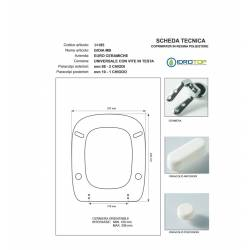 Copriwater GIOIA MB Micas Bianco Cerniera Rallentata Soft Close Cromo