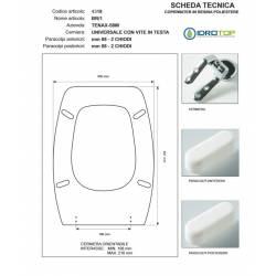 Copriwater BR-1 Bianco Cerniera Rallentata Soft Close Cromo-Tenax Simi