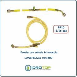 Tubo Flessibile-Frusta Colore Giallo con Valvola Intermedia x R410-Idrotop