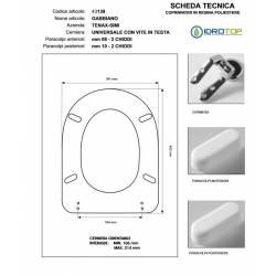 Copriwater GABBIANO Visone I.S. Cerniera Rallentata Soft Close Cromo-Tenax Simi