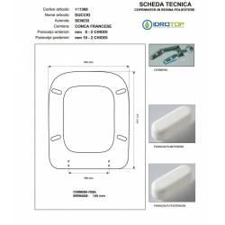 Copriwater Senesi DUCCIO VISONE I.S.  Cerniera Rallentata Soft Close Cromo-Sedile-Asse Wc