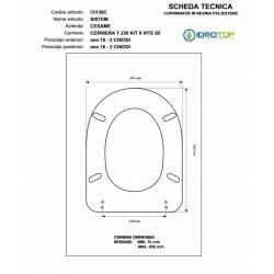 Copriwater Cesame  SYSTEM BIANCO Cerniera Rallentata Soft Close Cromo-Sedile-Asse Wc
