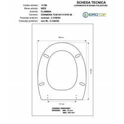 Copriwater Flaminia  WEB BIANCO  Cerniera Rallentata Soft Close Cromo-Sedile-Asse Wc