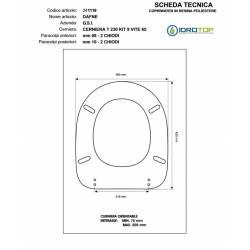 Copriwater G.S.I DAFNE BIANCO Cerniera cromo-Sedile-Asse Wc