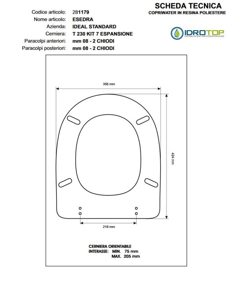 Sedile Wc Ideal Standard Serie Tonda.Copriwater Ideal Standard Tonda Bianco