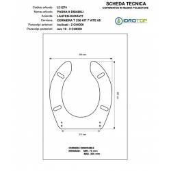 Copriwater PASHA-H9199.1 Bianco Cerniera Cromo-Duravit