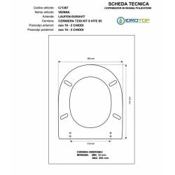 Copriwater VIENNA Visone I.S. Cerniera Rallentata Soft Close Cromo-Duravit