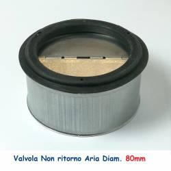 Valvola d.80 di NON RITORNO ARIA per le Tubazioni flessibili e rigide Aria Calda e Fredda