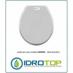 Copriwater Ideal Standard  GEMMA BIANCO I.S.  Cerniera Rallentata Soft Close Cromo-Sedile-Asse Wc