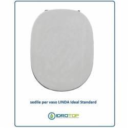 Copriwater Ideal Standard  LINDA BIANCO I.S.  Cerniera Rallentata Soft Close Oro-Sedile-Asse Wc