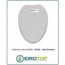 Copriwater Ideal Standard  SOVAS BIANCO I.S.  Cerniera Rallentata Soft Close Cromo-Sedile-Asse Wc