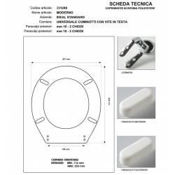 Copriwater Ideal Standard  MODERNO BIANCO  Cerniera Rallentata Soft Close Cromo-Sedile-Asse Wc