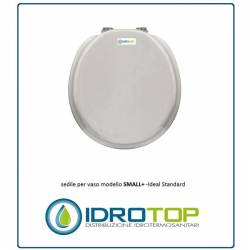Copriwater Ideal Standard  SMALL BIANCO EURO Cerniera Rallentata Soft Close Cromo-Sedile-Asse Wc