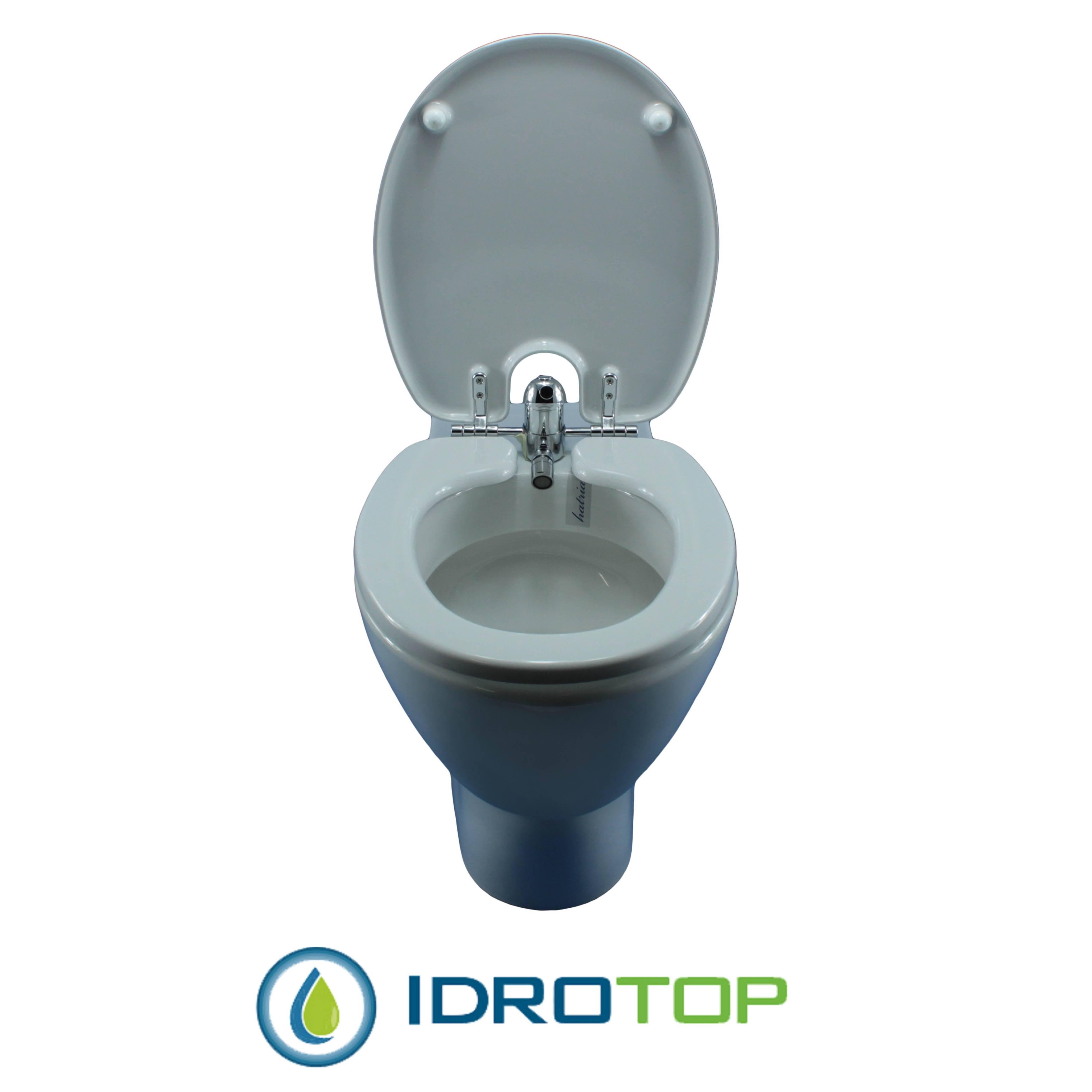 Sedile Copriwater Con Bidet Incorporato.Copriwater Bidet 520 Completo Di Vaso In Ceramica Filo Muro Perfetta Compatibilita